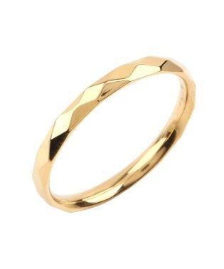 シンプルなステンレス製ダイヤカットペアリング