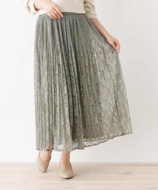 【M-LL】レ-スプリーツスカート