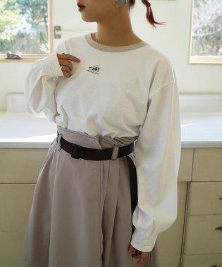 シロクマプリント長袖Tシャツ