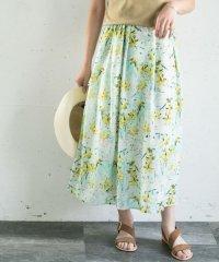 【ROSSO】ぼかしフラワープリントスカート