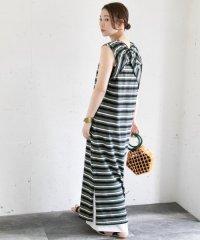 【ROSSO】マルチボーダータンクドレス