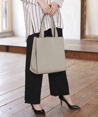 【MAGASEEK/d fashion別注】サイドジップ合皮トートバッグ