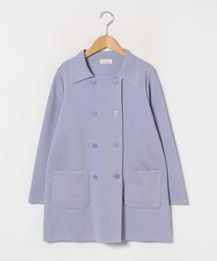 【大きいサイズ】ダブルブレスト ニットジャケット