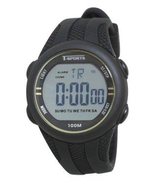 T-SPORTS デジタルウオッチ 腕時計 スポーツ シリコンバンド 10気圧防水【TS-D034】