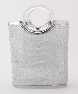 メタリックチュールバッグ