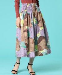 水彩大花柄スカート