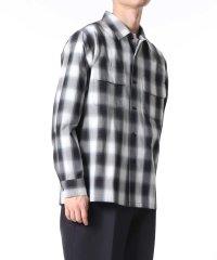 〈コットン100%〉チェック オープンカラーシャツ