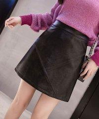 ミニスカート レザースカート タイトスカート スカート 黒レディース Aライン ミニ フェイクレザー スカート