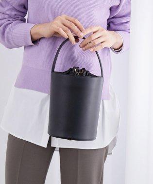 【巾着付き】レザーバケットバッグ