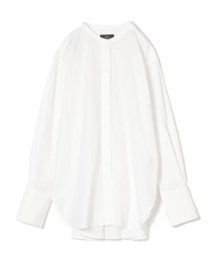PrimaryNavyLabel:コットンナイロンノーカラーフロントフライシャツ