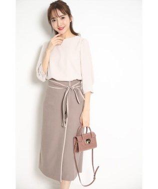 ラップ風パイピングタイトスカート