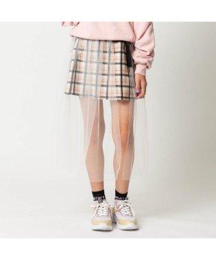 ニコ☆プチ2月号掲載  チュール重ねプリーツスカート