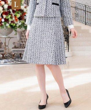 【L】【セレモニー・入卒対応】リボンツイードスカート