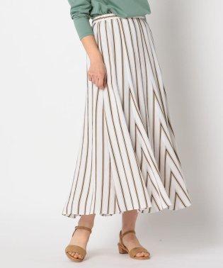 ストライプマキシスカート