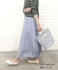 【WEB限定カラーあり】クラッシュサテンロングスカート