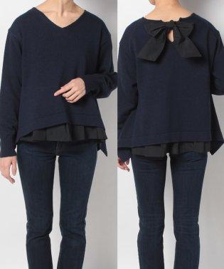 【Sono】異素材リボンセーター