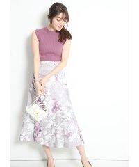【美人百花/and GIRL4月号掲載】大花プリントフレアスカート