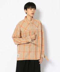 リボン チェックシャツ/ RIBBON CHECK SHIRT