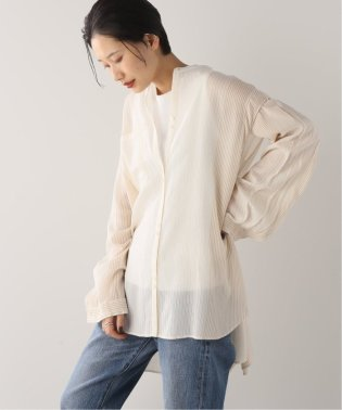 【RITO/リト】STRIPE SHIRT WITH OPENED SLEEVES:シャツ