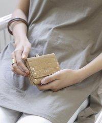 シャイニースモールクロコがま口財布