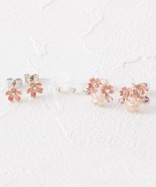 桜モチーフセットピアス