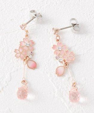 桜花びらゆらピアス