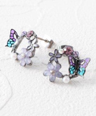 蝶花ぐるりピアス