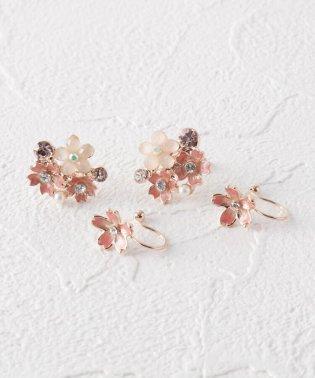 桜モチーフセットノンホールピアス(イヤリング)