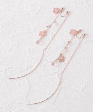 桜じゃらアメリカン風ノンホールピアス(イヤリング)