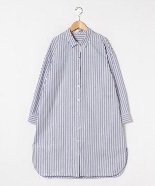 ストライプ柄ロングシャツ