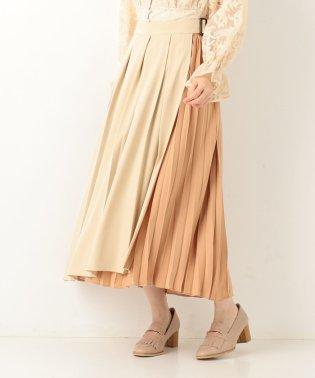 プリーツアソートラップ風スカート