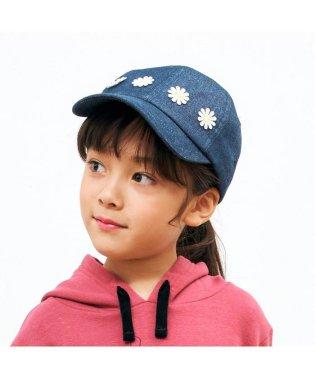 お花レース付きキャップ_UVカット
