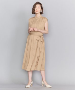 BY DRESS プリーツバンドカラーシャツドレス