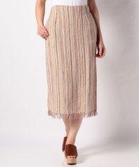 【KBF】カラーツイードフリンジスカート