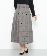 【SENSEOFPLACE】チェックミディフレアスカート