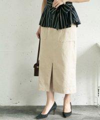 【ROSSO】スリットリネンタイトスカート