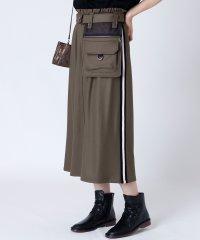 [soeur7]ベルトポーチ サイドラインスカート