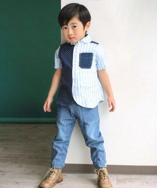 STシャンブレー9分丈パンツ(100~140cm)