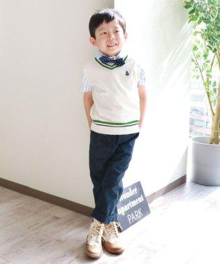 麻混カラーシャンブレー9分丈パンツ(100~140cm)