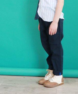 麻混カラーシャンブレー9分丈パンツ(150~160cm)