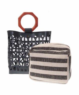 【2WAY】デザインカットハンドバッグ