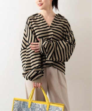 《予約》【THE NEWHOUSE/ザ ニューハウス】STRIPE TOMBOY SKIPPER SHIRT:カットソー◆