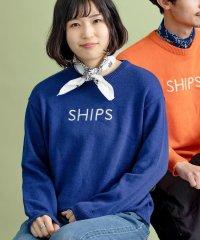 SU: SHIPS ロゴ エンブロイダリー コットン ニット