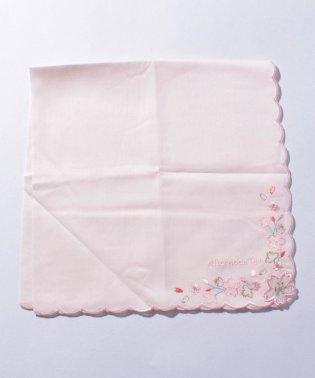 桜柄刺繍ハンカチ