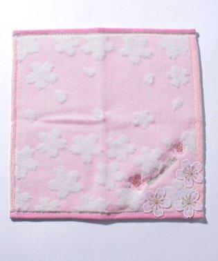 桜柄ジャカードミニタオル