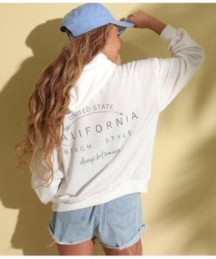 CALIFORNIAプリントフーディートップス