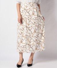 【SENSEOFPLACE】スカーフプリントスカート