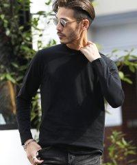コットンUネックロンT / ロンT メンズ Tシャツ 無地 長袖 ロングTシャツ 長袖Tシャツ uネック