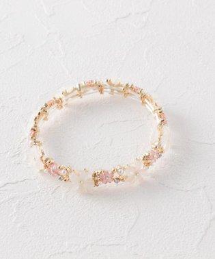桜モチーフゴムブレスレット