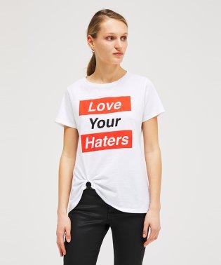 コットン型押し裾リング半袖Tシャツ・カットソー